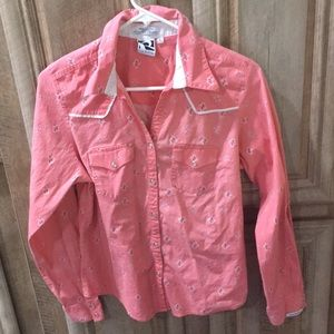 Pink Rockies Brand Button Down Shirt With Pockets